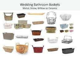 bathroom basket ideas wedding bathroom baskets add a sweet and special touch world