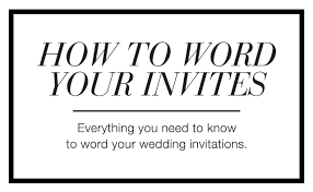 wedding invite wording theruntime