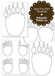 Paw Print Template by Printable Paw Prints Template Printable Treats
