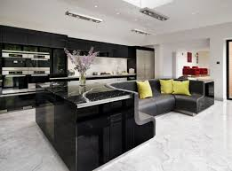 modern island kitchen modern island kitchen interior with built in sofa