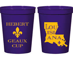 mardi gras throw cups geaux cup etsy