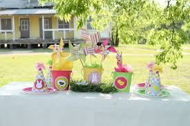 Easter Decorations Outside by Easter Egg Hunt Party