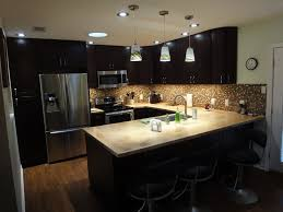 Kitchen  Espresso Kitchen Cabinets With Nice Modern Steel Design - Espresso kitchen cabinets