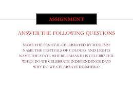 celebration of festivals