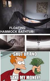 floating hammock bathtub