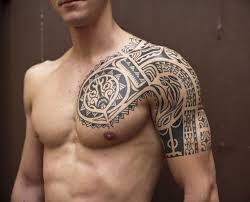 great chest tribal tattoo design for men tattoos for men