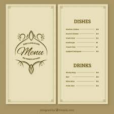 free vector restaurant menu template 13468 my graphic hunt