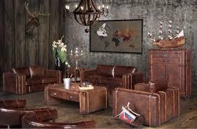 peinture canapé cuir canapé et déco vintage dans un intérieur moderne