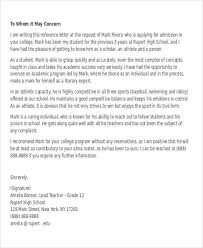 sample college recommendation letters recommendation letter for