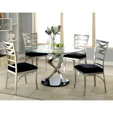 american table and chairs furniture of america sculpture i contemporary satin metal dining