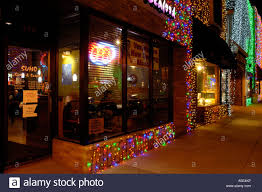 restaurant with christmas lights during the big bright lights show