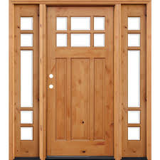 Front Door by Pacific Entries 70 In X 80 In Craftsman Rustic 6 Lite Stained