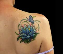 hd lotus flower butterfly design idea