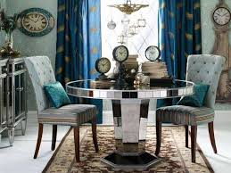 Mirror Dining Room Beautiful Decoration Round Mirrored Dining Table Ingenious Idea