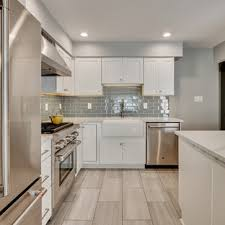 kitchen backsplash ideas with white cabinets houzz 75 beautiful modern kitchen with blue backsplash pictures