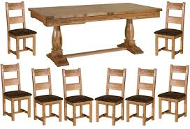 Oak Extending Dining Table And 8 Chairs Impressive Oak Dining Table And 8 Chairs Toulouse Antique Oak