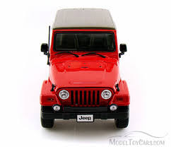 jeep cars red jeep wrangler sahara red bburago 12014 1 18 scale diecast