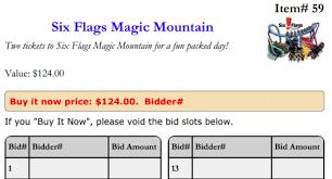 auctria com silent auction bidsheets