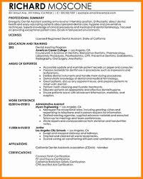 Resume Template Dental Assistant Dental Hygienist Resume 4 Dentist Resume Examples Mail Clerked