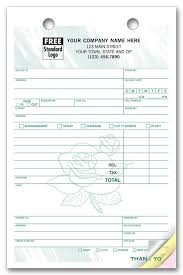 Florist Invoice Template by Register Forms By Specialty Print Forms