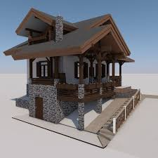 chalet houses european chalet houses 4 in 1 collection 3d model 3ds fbx c4d