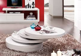 Table Salon Moderne table basse de salon ronde design table basse ronde bois et verre
