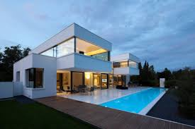 modern minimalist house design ideas with large window designs in