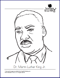 Mlk Jr Coloring Page Songs For Teaching Dr Martin Luther King Jr Coloring Pages