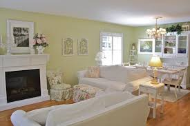 Shabby Chic Fireplaces by White Fireplace For Shabby Chic Cottage Style Living Room With