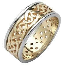 mens celtic wedding bands wedding ring mens celtic knot pierced sheelin wedding band