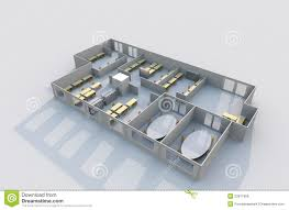 3d Office Floor Plan 3d Office Plan Royalty Free Stock Images Image 23977809