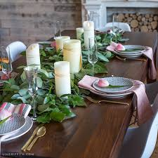 Table Runners Cover It Up How To Make A Fresh Greenery Table Runner