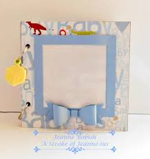 baby boy scrapbook album a stroke of jeanne ius baby boy mini journal scrapbook photo album