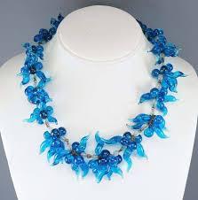 art glass necklace images Italian venetian glass art deco necklace and earrings boylerpf jpg