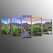 Landscape Canvas Prints by Landscape Canvas Painting Railway Giclee Wall Art Poster Print