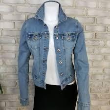 light blue cropped jean jacket kiss womens jean jacket sze s blue cropped denim stretch light