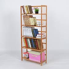 cheap bamboo wood bookcase shelf filing cabinet modern minimalist