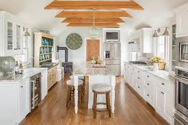 white kitchen cabinets with wood beams 25 kitchens in wood and white refined cozy and