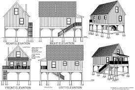 cabin plans converted raised flood plain blueprints building