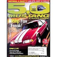 5 0 mustang magazine cover print of 5 0 mustang magazine october 2002 print