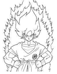 dragon ball z coloring page online 2390
