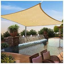 square lshade yescomusa rakuten 16 x16 square sun shade sail uv top cover