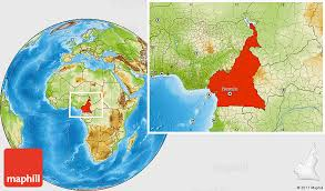 map of cameroon physical location map of cameroon