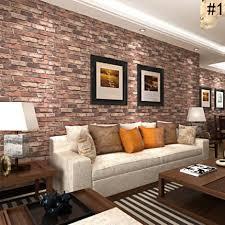 wallpaper design batu bata beli 3d vintage wallpaper bahan pvc batu bata corak dinding decal 5
