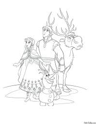 frozen coloring pages characters queen disney pdf book sheets