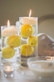 centerpieces with candles creative idea creative lemon centerpieces in clear glass feat