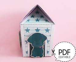 House Gift Blab Dog House Gift Box U2013 Printable Pdf Download From