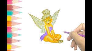 draw tinkerbell art drawing