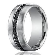 black mens wedding rings 7 5mm 950 platinum black diamond men s wedding ring