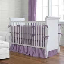 Purple Bedding For Cribs Solid Aubergine Purple Crib Bumper Carousel Designs